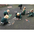 Drawing rangoli patterns