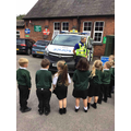 We had a visit from PCSO Costas