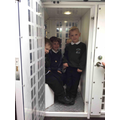 The children experienced what it is like inside a police van!
