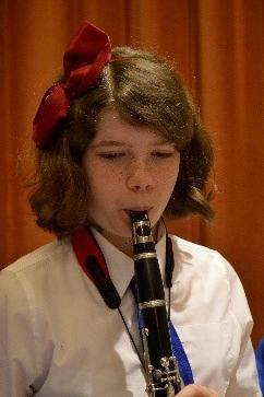 Photo of pupil playing clarinet