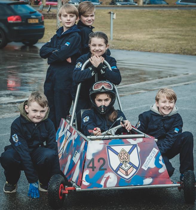 Photo of children and Formula Goblin Go Kart