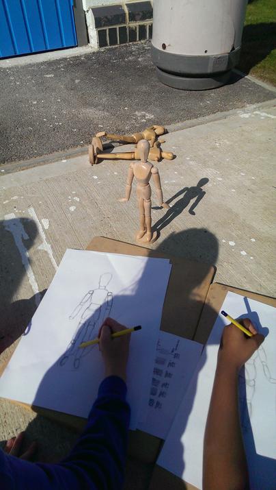 Photo of pupils artwork