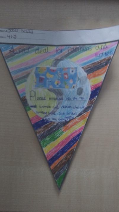 Photo of pupils bunting design