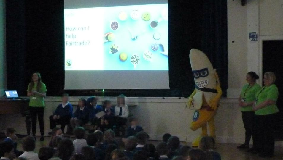 Photo of children taking part in an assembly