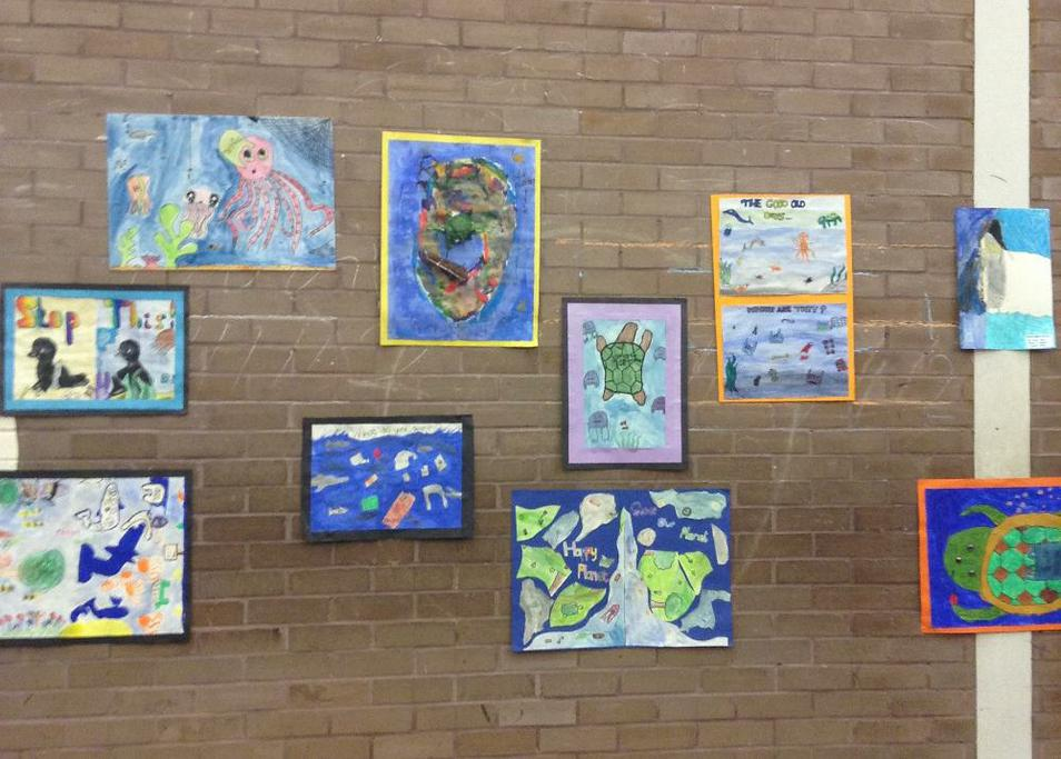 Photos of artwork from Eco Art Competition
