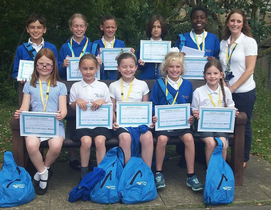 Photo of pupils with their certificates