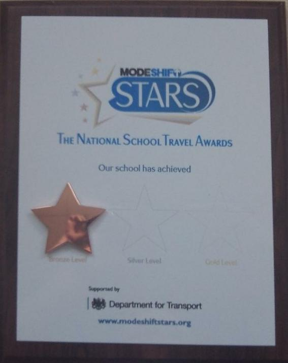 Photo of Bronze National Travel Award Certificate