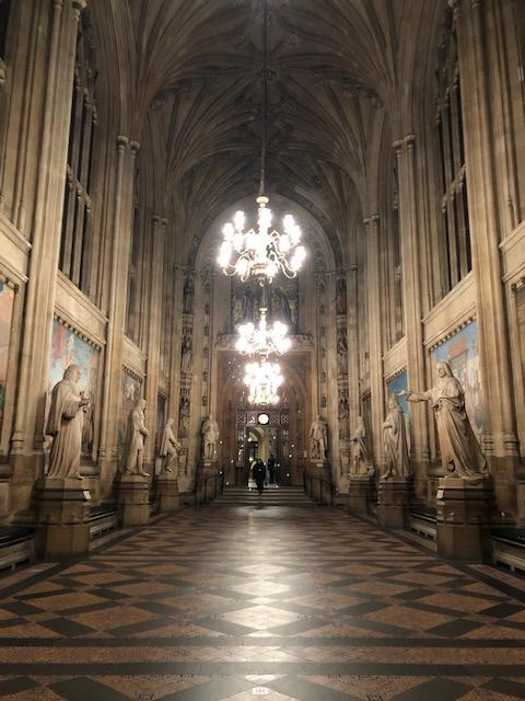 Photo of inside of Houses of Parliament