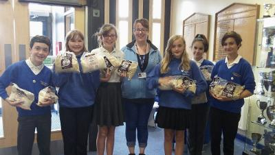 Photo of pupils taking part in Fairtrade Rice Challenge