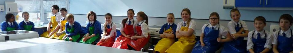 Photo of pupils who took part in baking competition