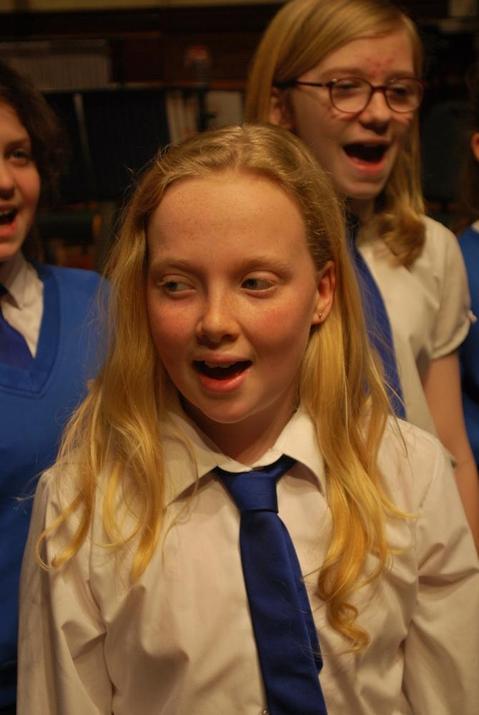 Photo of pupils singing