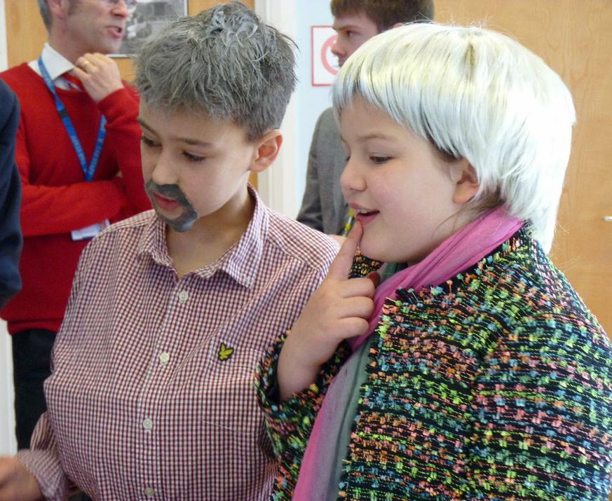 Photo of pupils dressed up as Mary Berry and Paul Hollywood