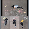 Our chalk drawings on the playground.