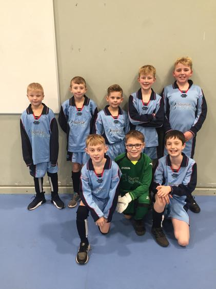 Our excited football team ready for the tournament