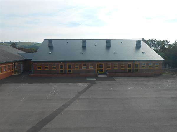 Our new junior block shortly after completion