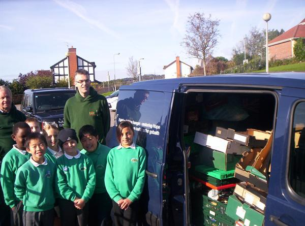 Cardiff Food Bank harvest donation