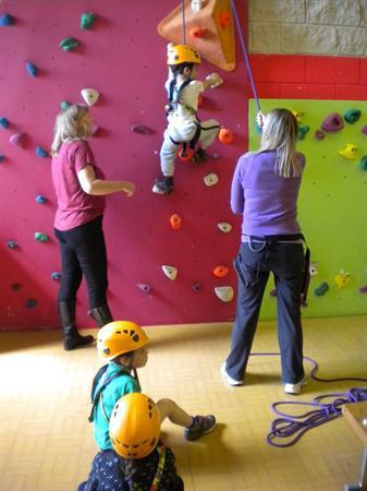 Climbing fun in P.E
