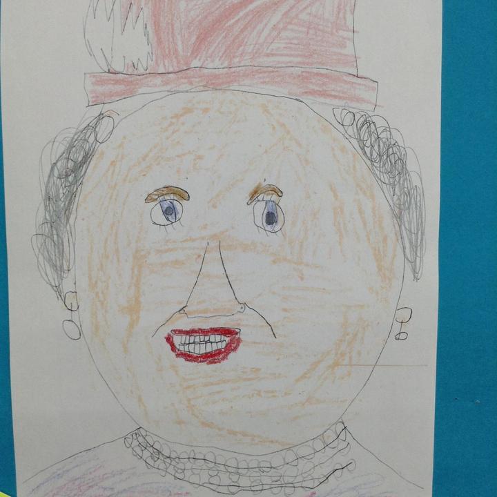 A portrait of Queen Elizabeth II