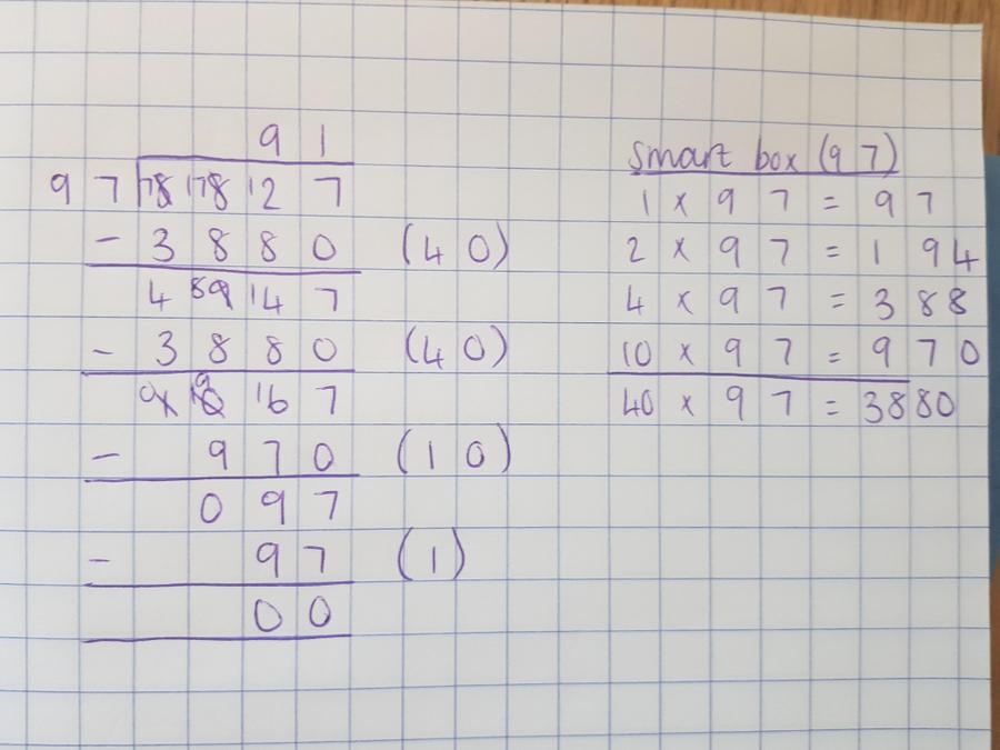 Long division step by step part 2