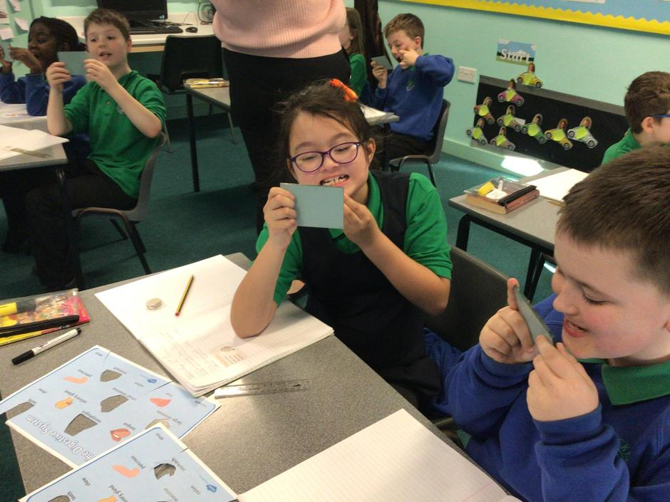 A Percy Pig themed teeth investigation in Year 4