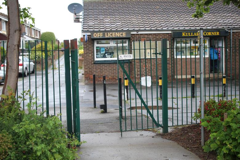 'Shop Gate' Opposite Breakfast Club Entrance