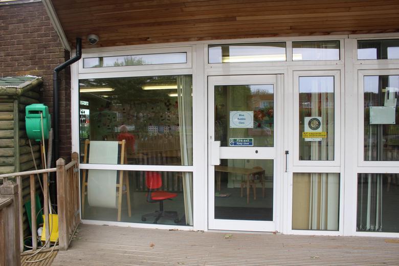 Class 2 Door (via Early Years Garden)