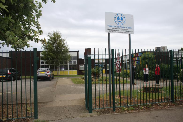 Gate Opposite the School Office