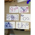 Making phonic flashcards