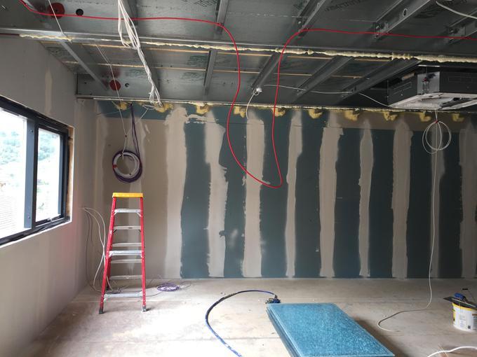 Plastering has started in Hawks