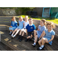 Learning our alphabet outside in the sunshine.