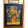 A collaborative piece of work completed by the art club
