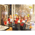 We made space boots and space helmets.
