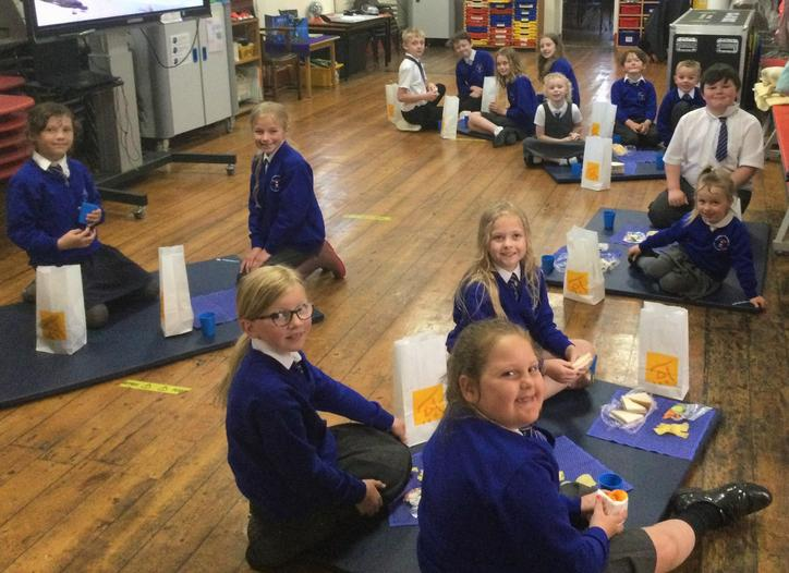 Outdoor Learning Day picnic (indoors due to rain!)