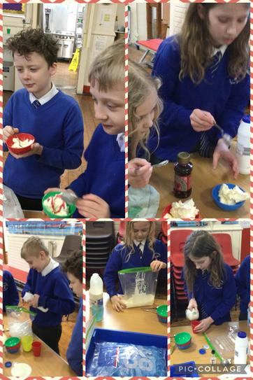 Making ice cream in a bag!
