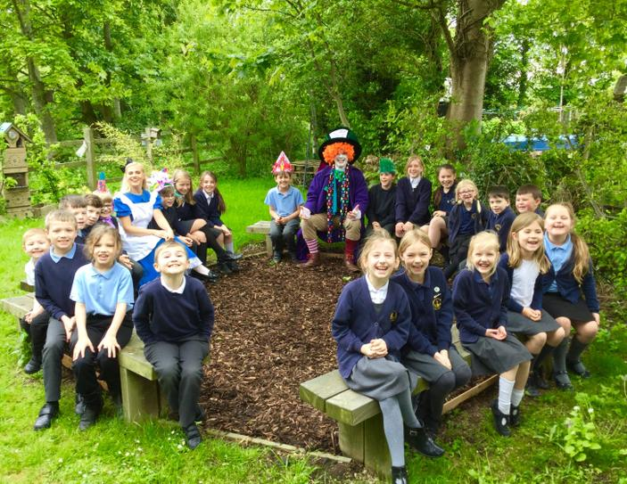 The Mad Hatter & Alice visit! May 2019