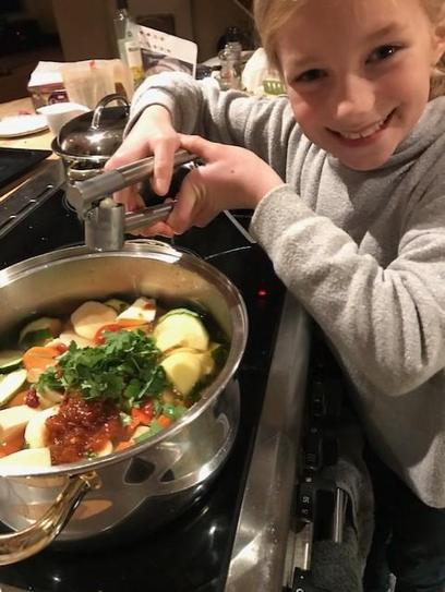 Making soup!