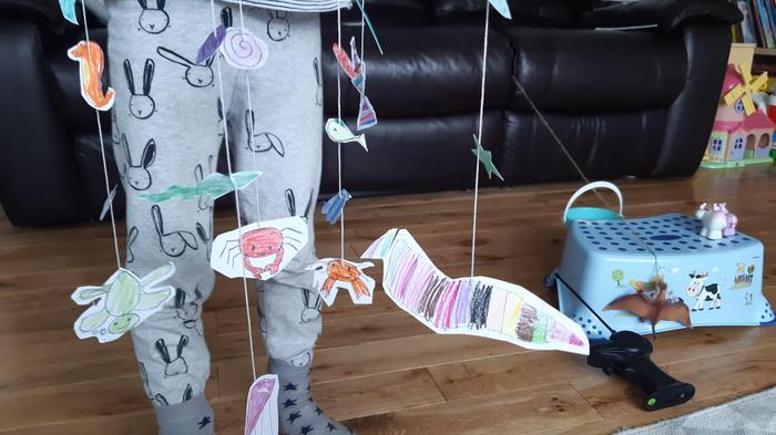 Nina made a sea creature mobile
