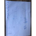 He has drawn a picture of both the plane