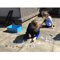 Outdoor writing.