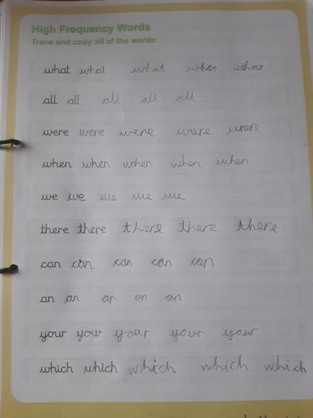 Lovely handwriting Arielle.