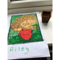 Riley's amazing sunflowers picture