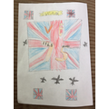 VE day poster by Joshua.