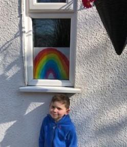 Billy and his lovely rainbow painting