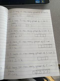 Trying hard with division work Poppy.Well done!