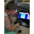 Wenny playing maths games on purple mash