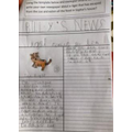 Billy's amazing newspaper article