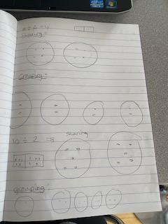 More division working out by Poppy.