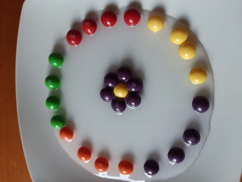 Ariellle's skittle arrangement.
