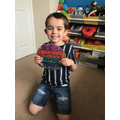 Kyan's show and tell frisbee