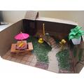 Hollie's amazing cardboard box model.